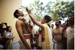 Tamil Brahmins Garland Exchange or Maalai Mathinal Ceremony