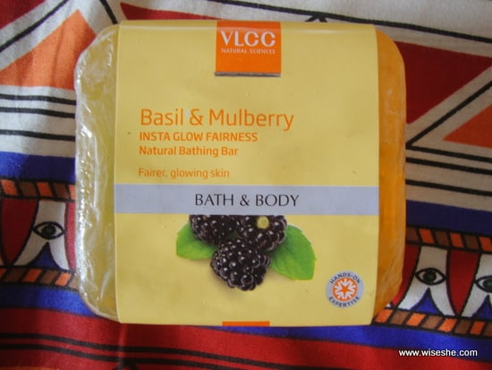 VLCC Basil & Mulberry Insta Glow Fairness Natural Bathing Bar Review+soap bath