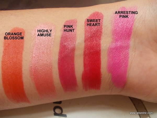 colorbar matte lipsticks
