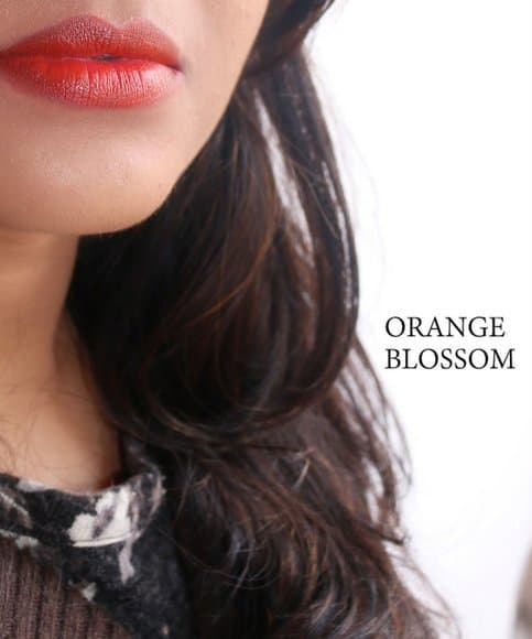 colorbar matte touck lipstick orange blossom swatch