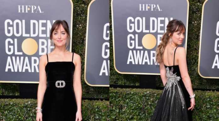 dakota johnson golden globes